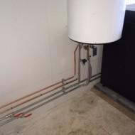 Warmwater boiler.