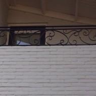 Balkonhek hand gesmede krullen