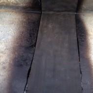 Reparatie oude dakgoot met epdm.